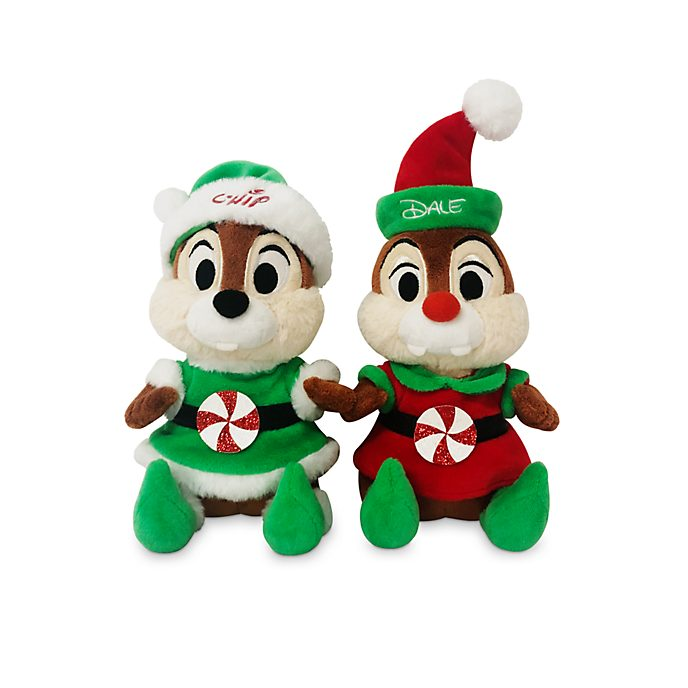 Disney Store Peluches moyennes Tic et Tac, collection Holiday Cheer