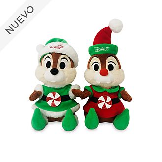 Set peluches medianos Chip y Chop, Holiday Cheer, Disney Store