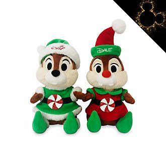 Disney Store - Holiday Cheer - Chip & Chap - Kuschelpuppen- Set