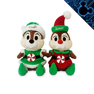 Disney Store Chip 'n' Dale Holiday Cheer Medium Soft Toy Set