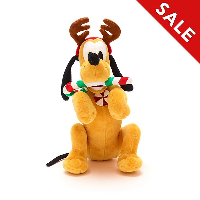 Disney Store Pluto Holiday Cheer Medium Soft Toy