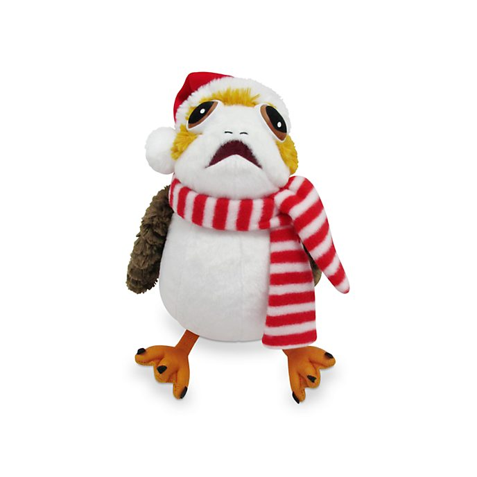 Disney Store Porg Holiday Cheer Medium Soft Toy, Star Wars