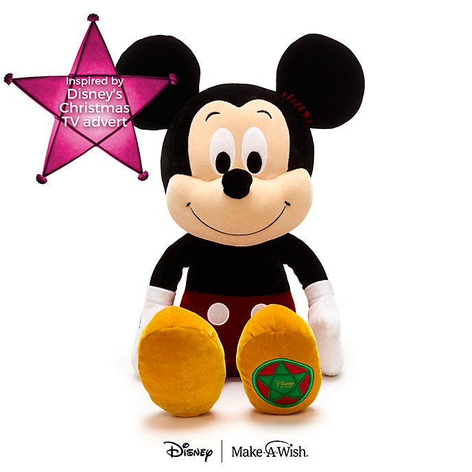Disney Store Mickey Mouse Vintage Christmas Soft Toy
