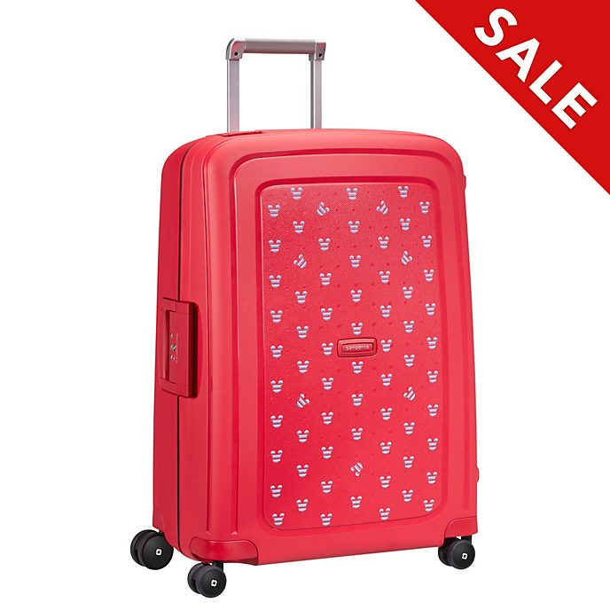 Samsonite Mickey Mouse S'Cure Medium Red Rolling Luggage
