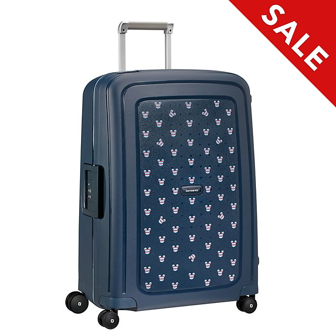 Samsonite Mickey Mouse S'Cure Medium Navy Rolling Luggage