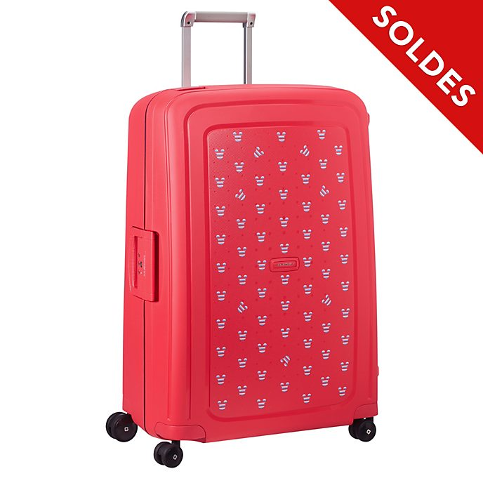 Samsonite Grande valise à roulettes S'Cure Mickey rouge