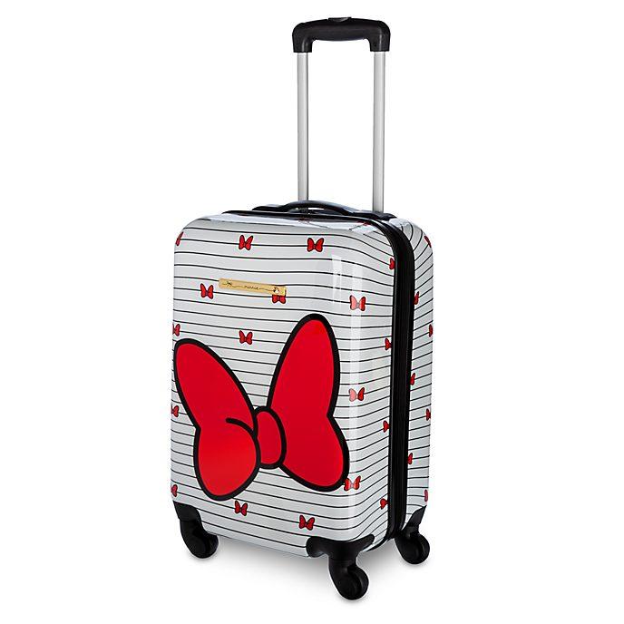 Disney Store Valise à roulettes Minnie rouge et blanche