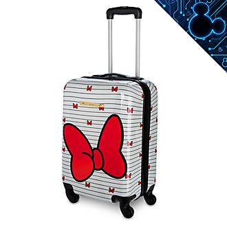 Disney Store Minnie Mouse Red and White Rolling Luggage