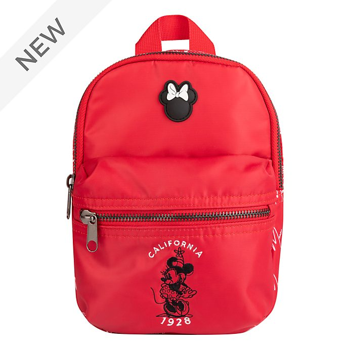 Disney Store Minnie Mouse Red and White Mini Backpack