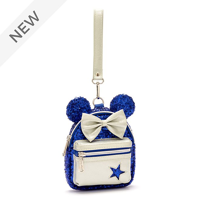 Loungefly Minnie Mouse Wishes Blue Mini Backpack Wristlet