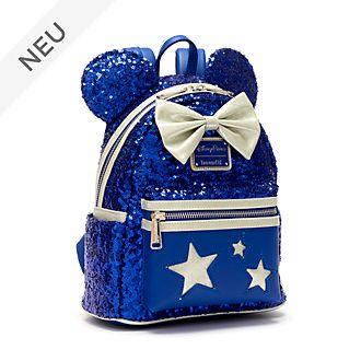 Loungefly - Wishes Blue - Minnie Maus - Mini-Rucksack