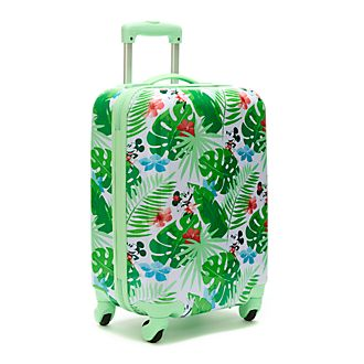 Disney Store Mickey and Minnie Tropical Hideaway Rolling Luggage