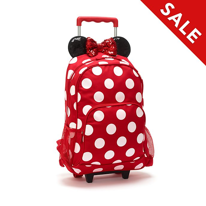 Disney Store Minnie Mouse Wheeled Backpack