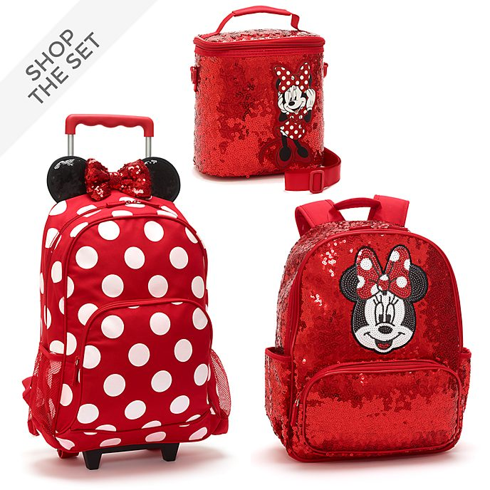 Disney Store Minnie Mouse Sequin Back to School Collection