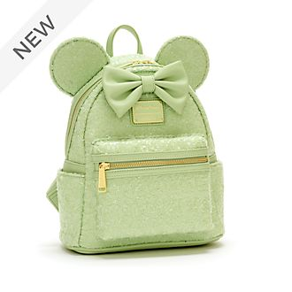 Loungefly Minnie Mouse Mint Sequin Mini Backpack