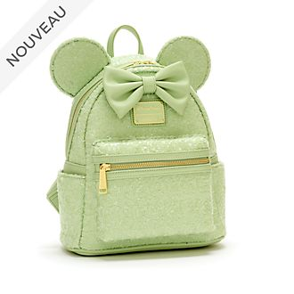 Loungefly Mini sac à dos Minnie à sequins, Mint Color Story