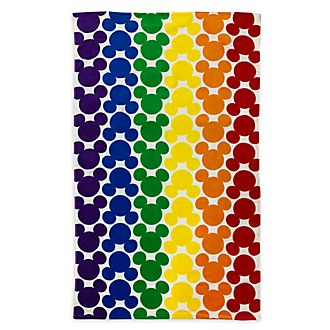Disney Store Mickey Mouse Rainbow Disney Jumbo Beach Towel