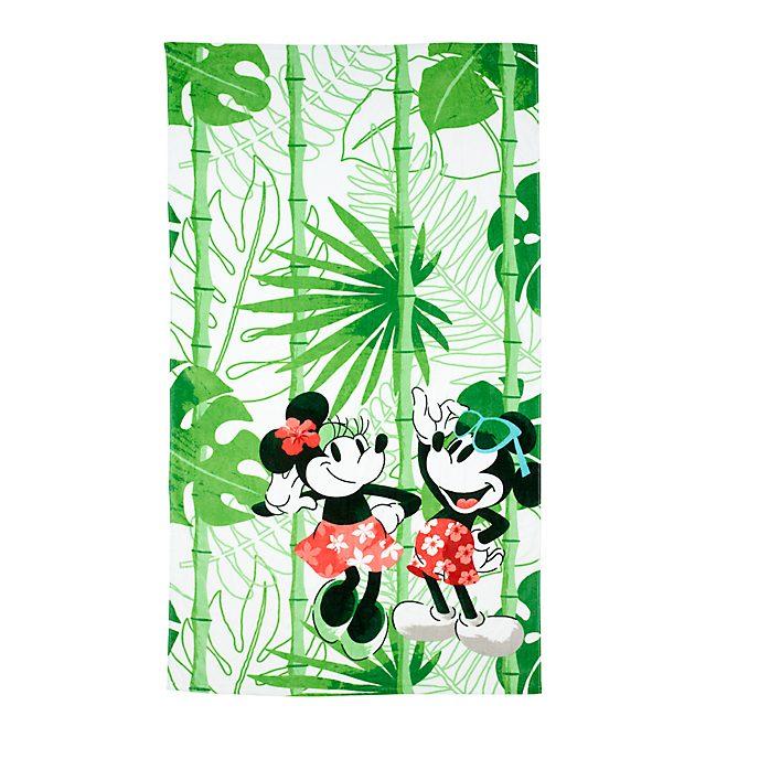 Disney Store Grande serviette de plage Mickey et Minnie Tropical Hideaway