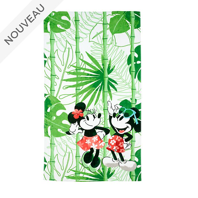 Disney Store Grande serviette de plage Mickey et Minnie Tropical Hideaway