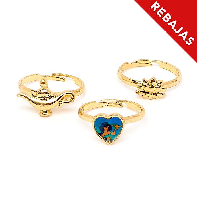 Anillos princesa Jasmine, Disney Store (3 u.)