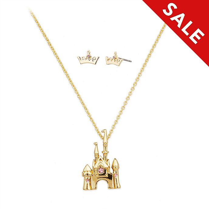 Disney Store - Dornröschen - Aurora - Set aus Halskette und Ohrringen