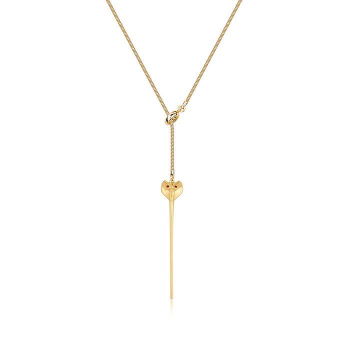 Couture Kingdom Jafar Snake Staff Gold-Plated Necklace, Aladdin