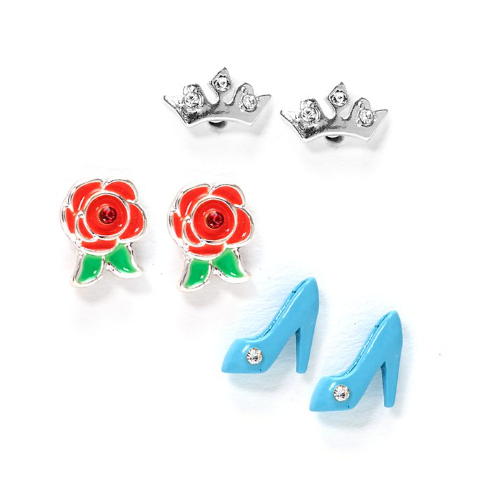 Disney Princess Disney Store, 3 paia di orecchini a bottone