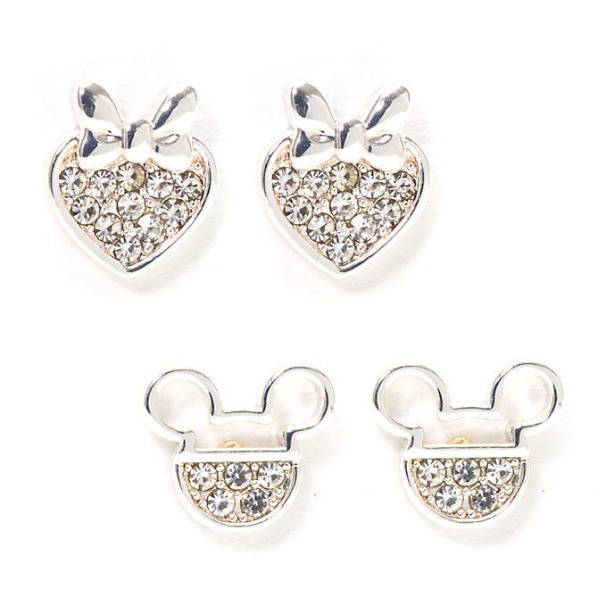 Topolino e Minni Disney Store, 2 paia di orecchini placcati in argento