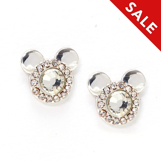 Disney Store Mickey Mouse Silver-Plated Stud Earrings