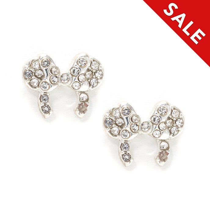 Disney Store Minnie Mouse Ears Headband Silver-Plated Stud Earrings