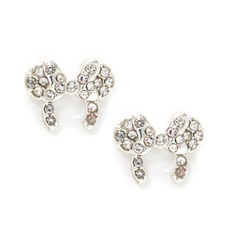 Orecchini a bottone placcati in argento cerchietto Minni Disney Store