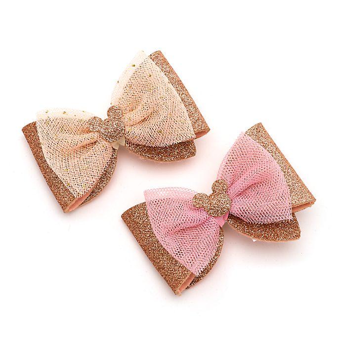 Horquillas para el pelo Mickey Mouse oro rosa, Disney Store (paquete de 2)