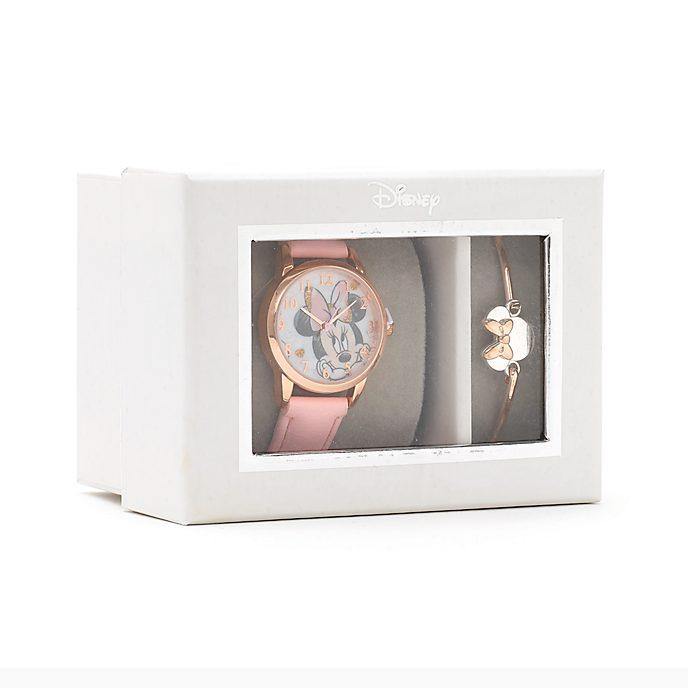 Disney Store - Minnie Maus - Set mit Armbanduhr und Armreif