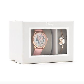 Disney Store Minnie Mouse Watch and Bangle Gift Set