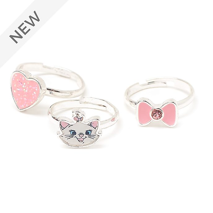 Disney Store Marie Rings, Set of 3