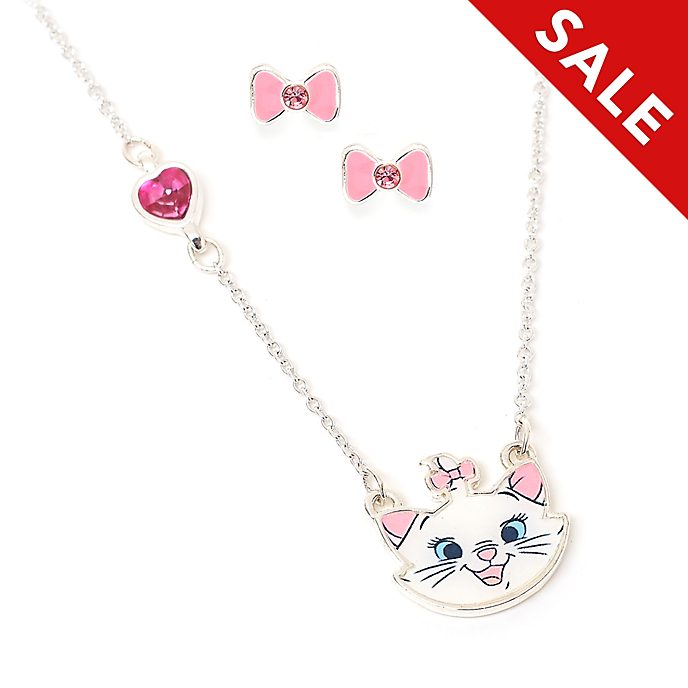 Disney Store Marie Necklace and Earrings Set