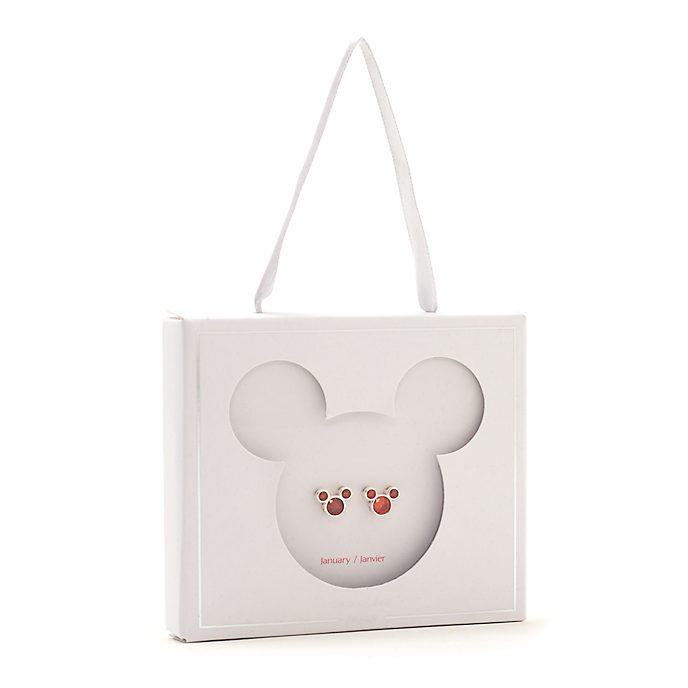 Orecchini a bottone con pietra del mese di gennaio Topolino Disney Store