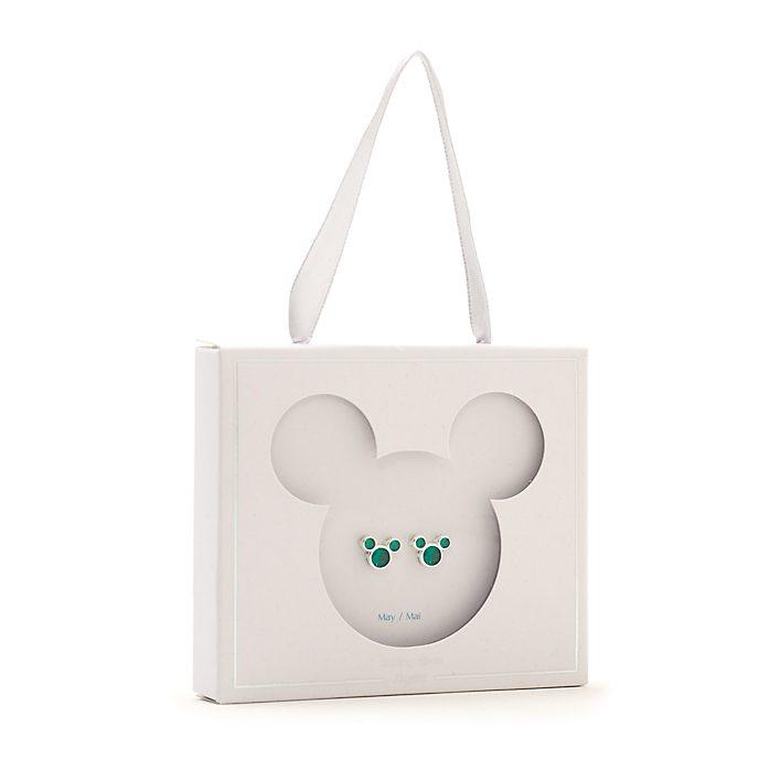 Pendientes de botón piedra natalicia, mayo, Mickey Mouse, Disney Store
