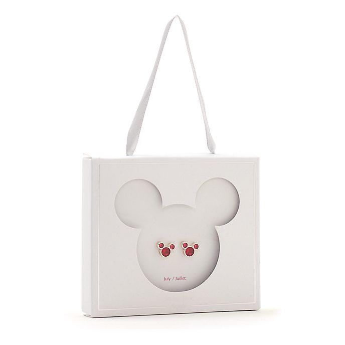 Pendientes de botón piedra natalicia, julio, Mickey Mouse, Disney Store