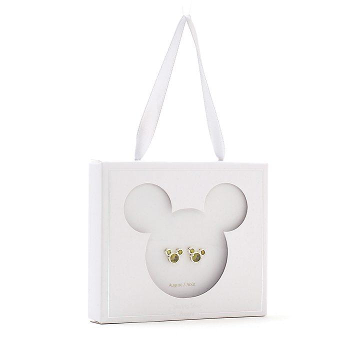 Disney Store - Micky Maus - Geburtsstein-Ohrstecker, August