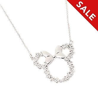 Disney Store Postively Minnie Silver-Plated Necklace