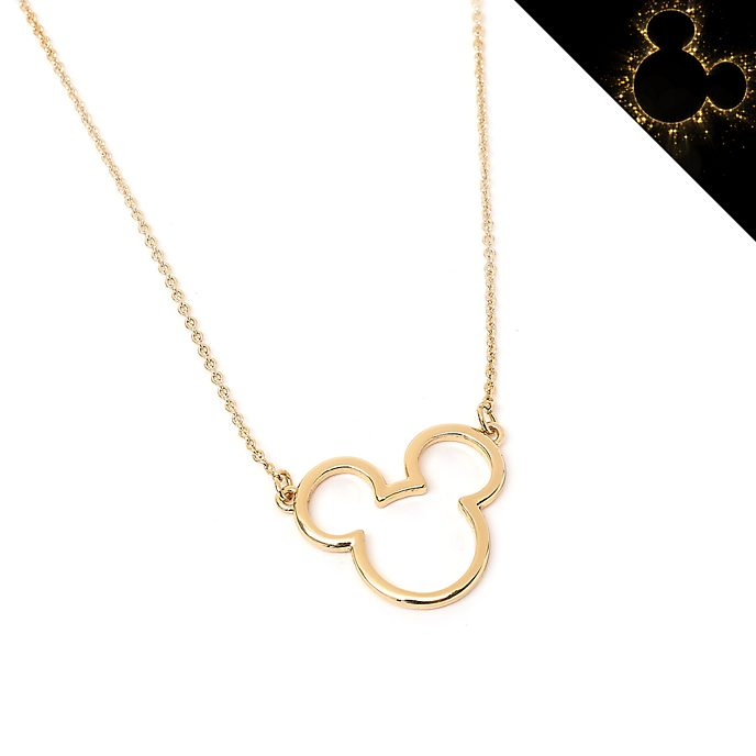 Disney Store Collier Postively Minnie plaqué or