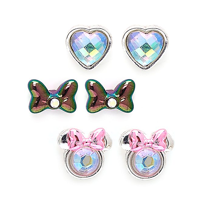 Disney Store Minnie Mouse Mystical Stud Earrings, Set of 3