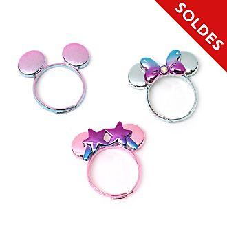 Disney Store Bagues Minnie Mystical, lot de 3