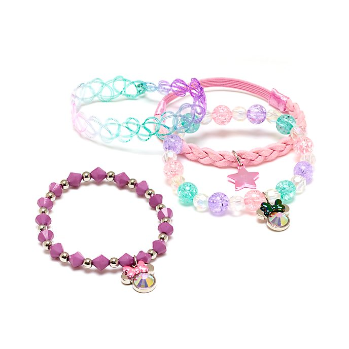 Disney Store Minnie Mouse Mystical Bracelets, Pack of 4