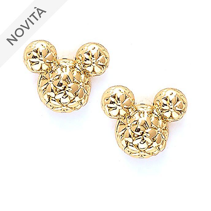 Orecchini a bottone placcati in oro Positively Minnie Topolino Disney Store