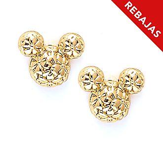 Pendientes de botón bañados en oro Mickey Mouse, Positively Minnie, Disney Store