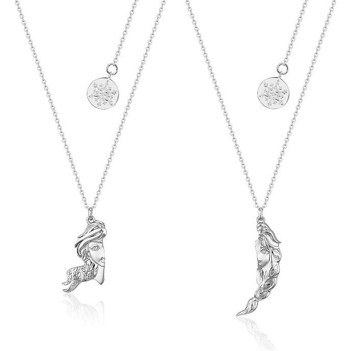 Couture Kingdom Duo de colliers d'amitié Anna et Elsa