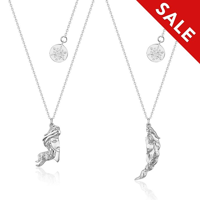 Couture Kingdom Anna and Elsa Friendship Necklace Set