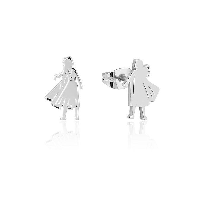 Pendientes de botón de copos de nieve, Anna y Elsa, Couture Kingdom
